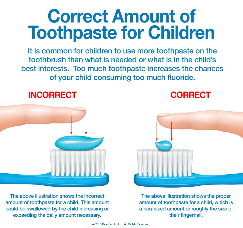 Using correct amount of Toothpaste
