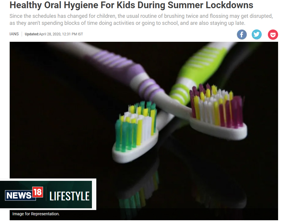 Healthy Oral Hygiene For Kids During Summer Lockdowns
