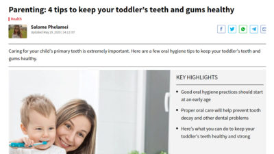 Parenting: 4 tips to keep your toddler's teeth and gums healthy