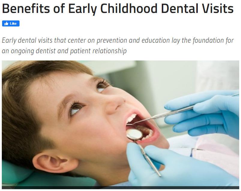 Benefits of early childhood dental visits