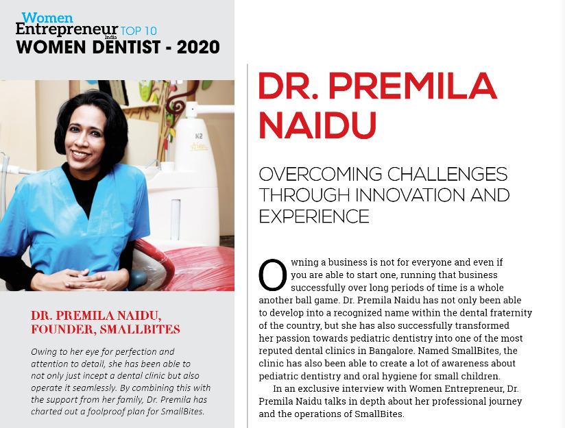 dr premila naidu - top women dentist